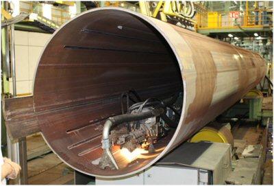 Tubo de Acero con soldadura longitudinal