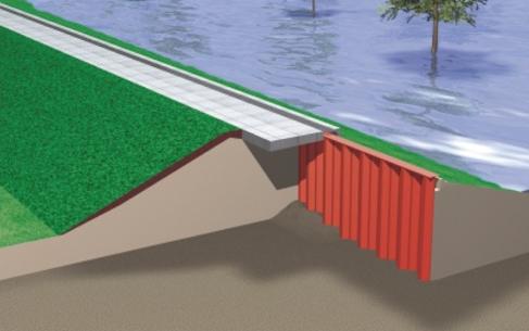Muro de inundación de Tablestaca