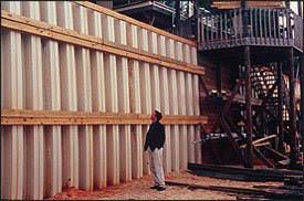 Cómo utilizar las paredes de Tablestaca